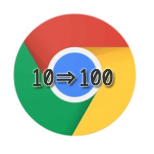 Google Chrome検索100件表示