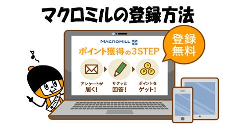 マクロミル登録方法
