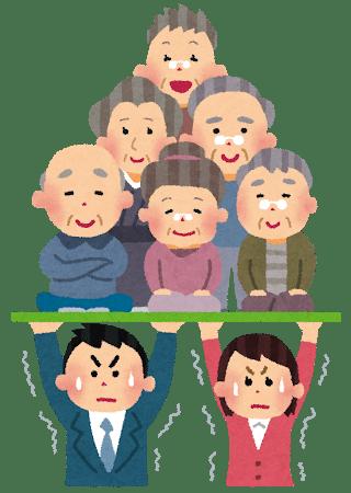 少子高齢化イラスト