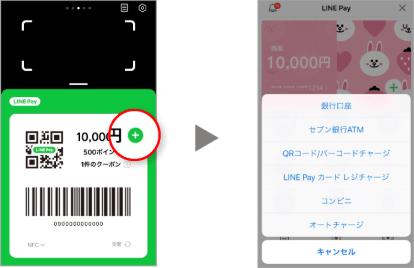 LINEPayアプリチャージ