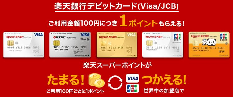 デビットカード還元率