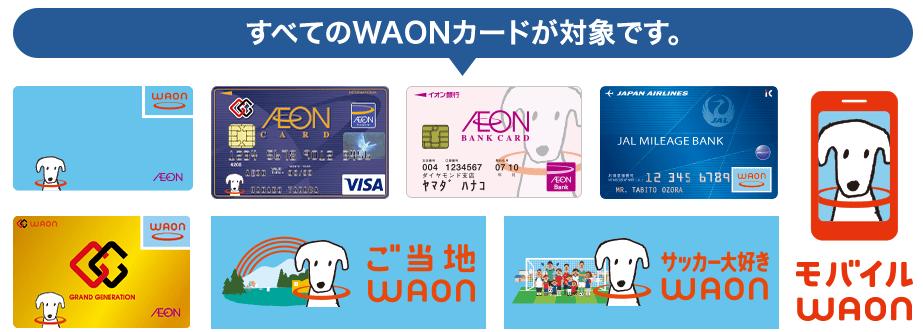 対象WAONカード