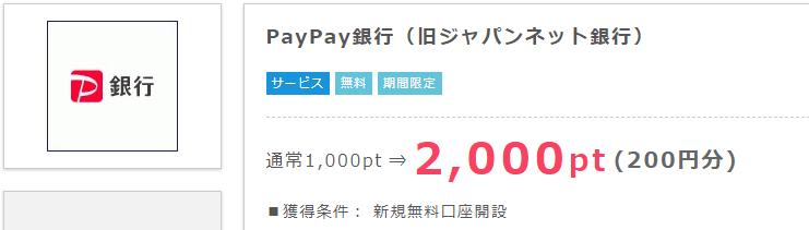 PayPay銀行開設