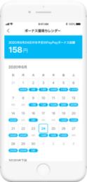 ボーナス獲得カレンダー